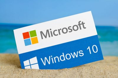 Windows 10 the operating system developed by Microsoft.