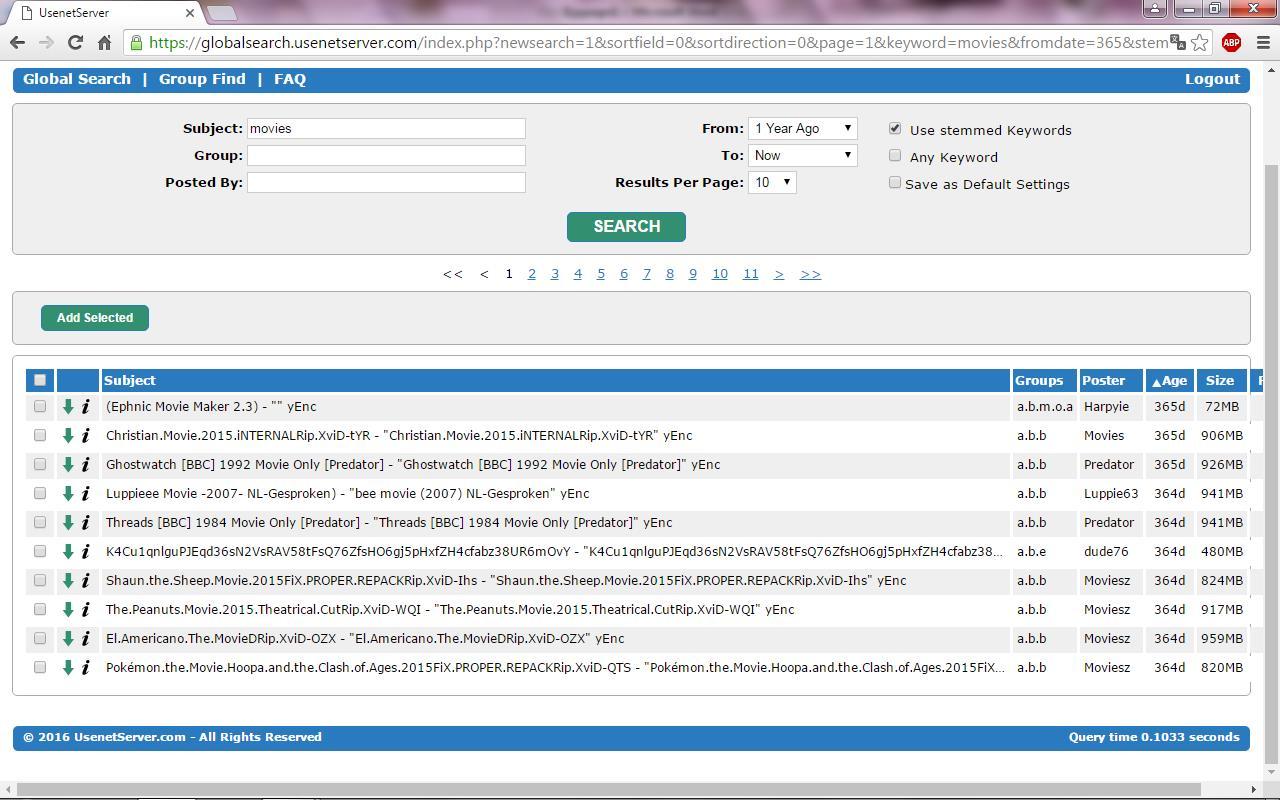 Usenetserver.com Review features