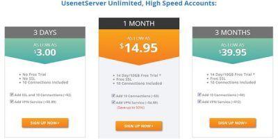 usenetserver pricing