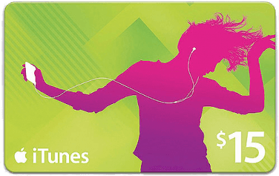 itunes 15 giftcard