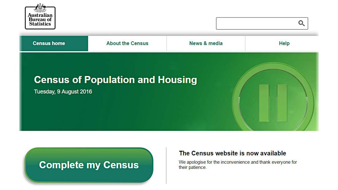 Australian Bureau of Statistics website screenshot