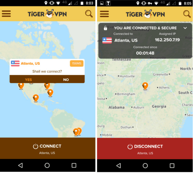 tigervpn-review-interface