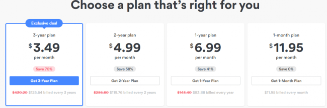 Pricing for NordVPN Subscriptions