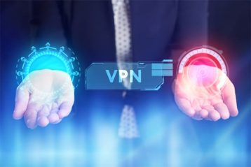 An image featuring VPN security concept