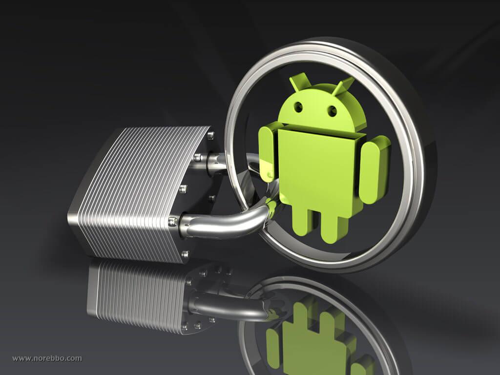 andriod logo bot and a padlock
