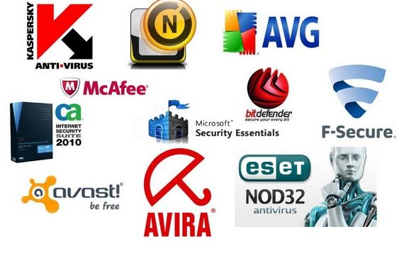 multiple logos of anti malware software