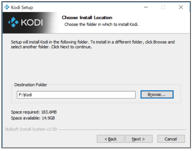 kodi-exe-destination-folder