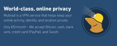 Mullvad-VPN-homepage