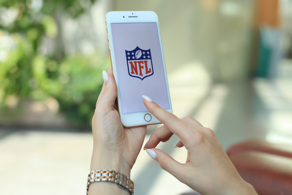 NFL logo on a mobile screen