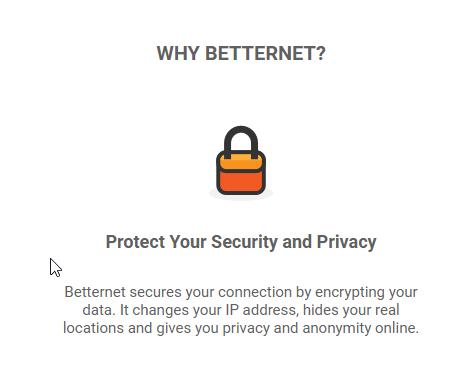 Betternet_homepage