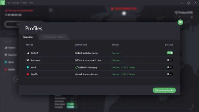 protonvpn-screenshot-profiles-overview