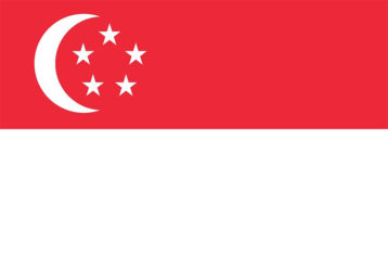 A flag showcasing Singapore