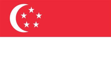 A flag showcasing Singapore