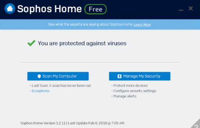 Sophos_home_free_main_menu