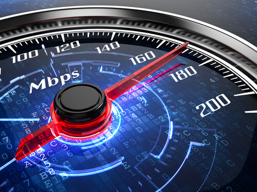 Internet connection speed concept