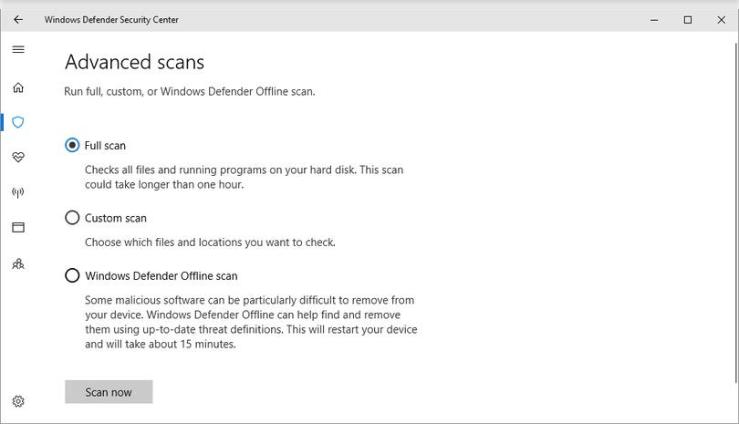 Microsoft Windows Defender Security Center Review
