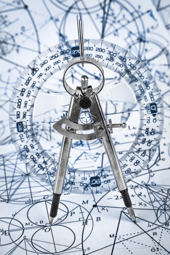 algorithms  - Protractor on the background of mathematical formulas and algorithms - Want to See Around Corners: Algorithms Can Help