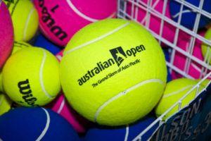 An image featuring multiple tennis balls that represents the Australian open tournament