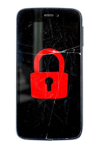 image of cracked security