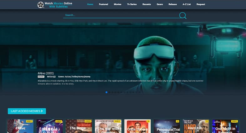A screenshot of SubsMovies