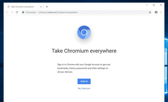 Ungoogled Chomium screenshot