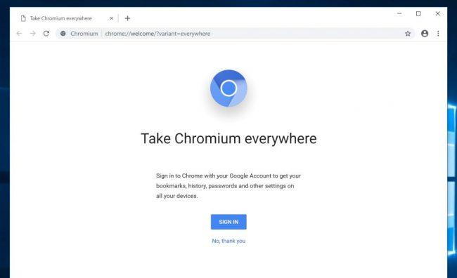 Ungoogled Chomium screenshot