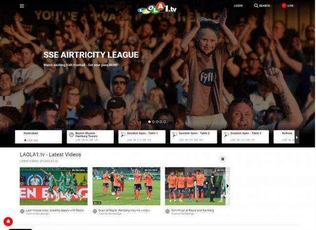 Laola1 Streaming Website Screenshot