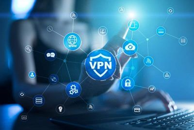VPN logo and a girl in the background.