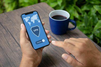 VPN written on a smartphone screen.