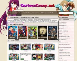 Cartoon Crazy official website screenshot