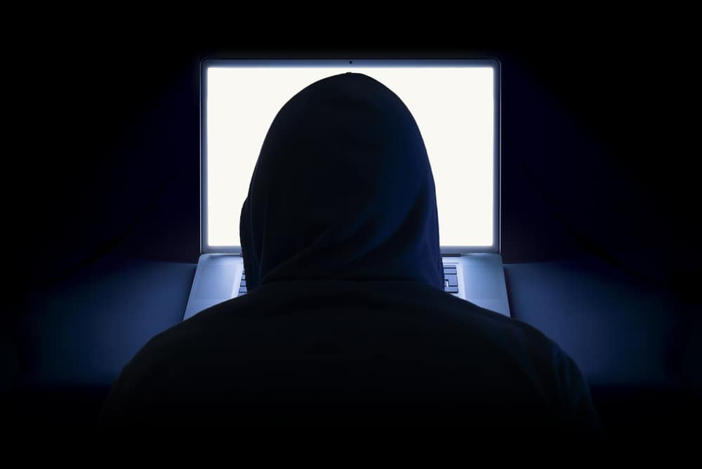 Hooded Hacker is Anonymous Online