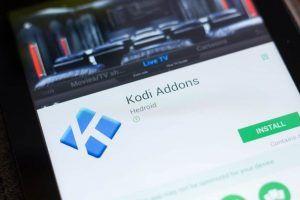 Kodi Addons app on a smartphone.