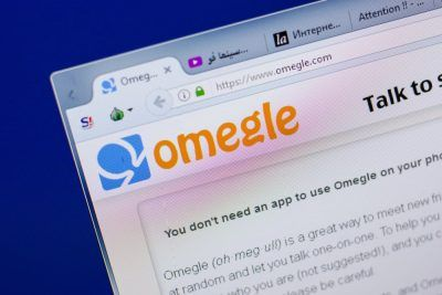 Omergle website screenshot