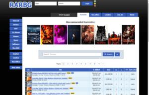 rarbg homepage screenshot