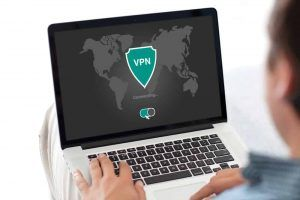 image of person on a laptop using VPN