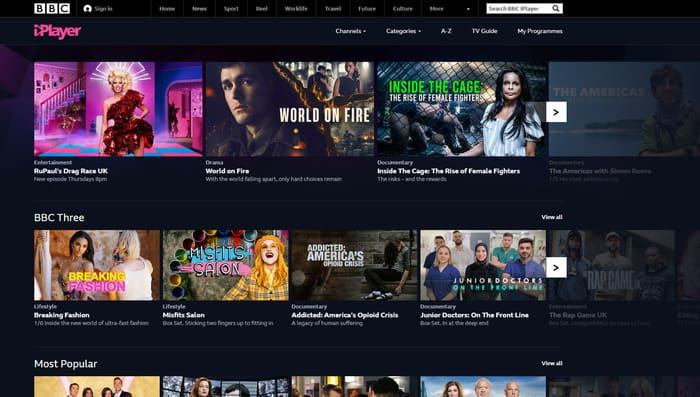 BBC Iplayer official website