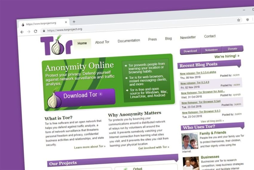 tor browser homepage screenshot