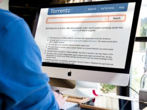 torrentz homepage open on a MAC