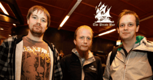 founders of tpb Fredrik Neij, Gottfrid Svartholm Warg and Peter Sunde