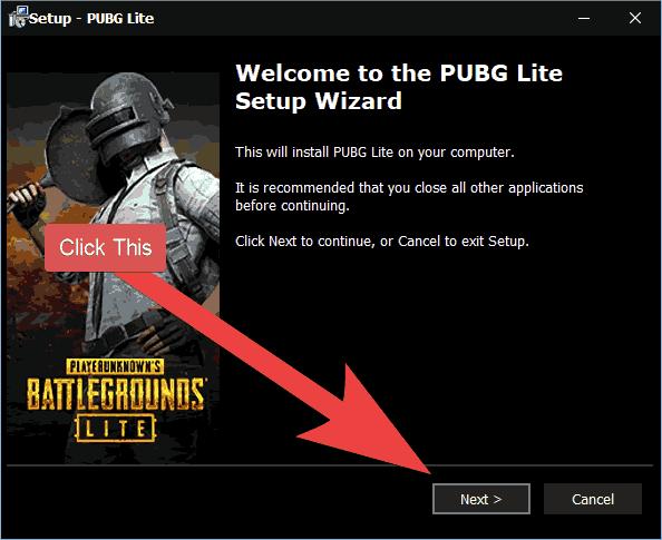 PUBG Lite Setup Start