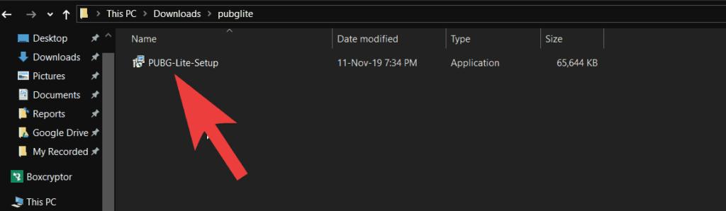 pubg lite downloaded file