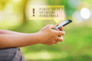 Public Wi-Fi network available message