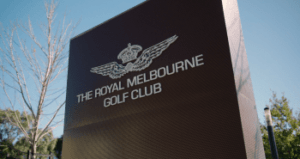 Royal Melbourne Golf Club Sign