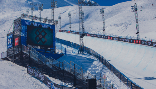 Winter x games half pipe at Aspen