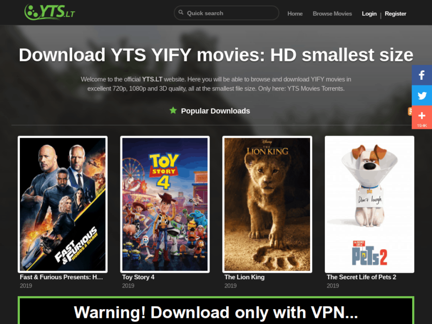 Yify Uptime Status Mirrors And Alternatives Security