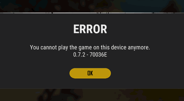 you cannot play the game on this device anymore