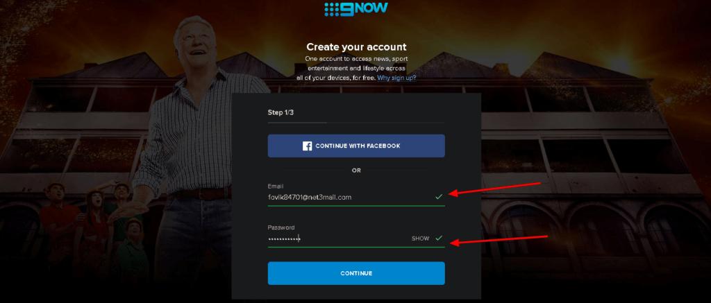 9now website login