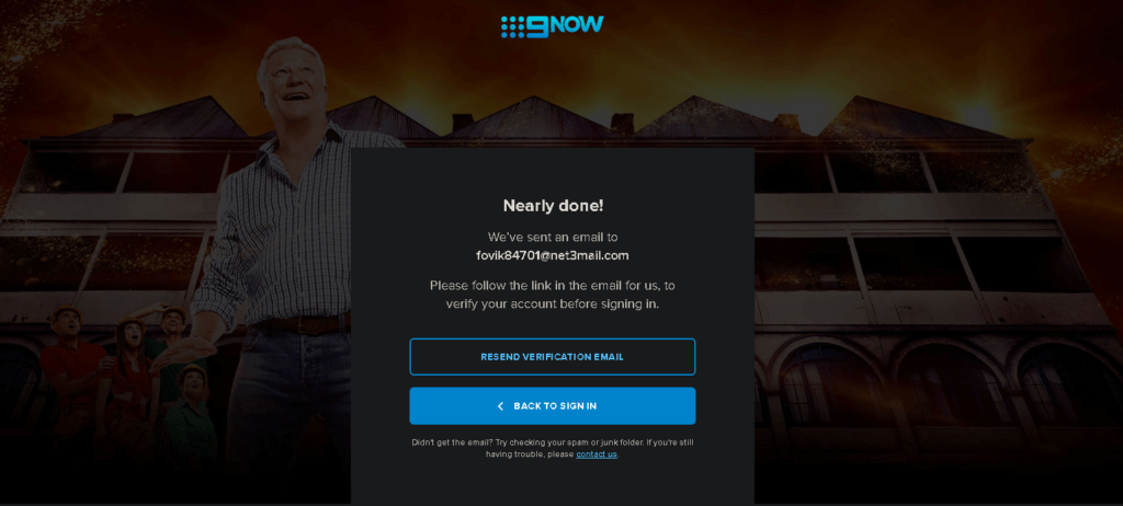 9now website verification