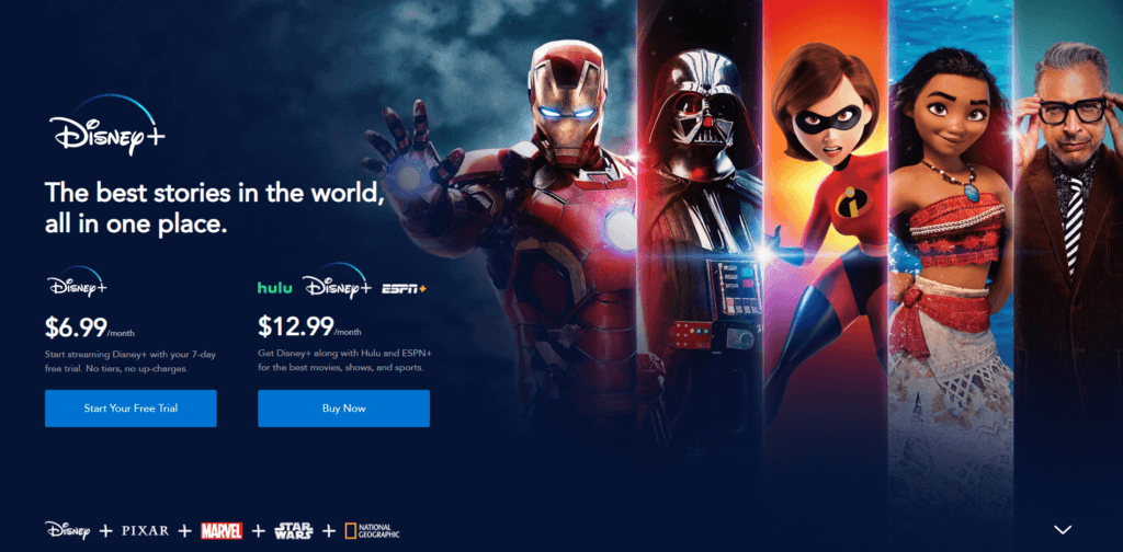 Start your free Disney+ Trial Screenshot
