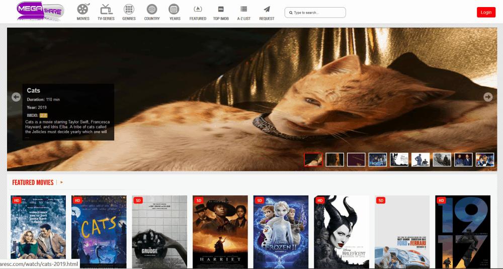 Megashare Homepage